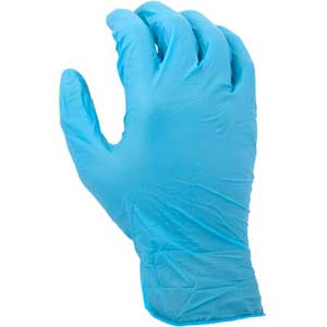 Blue Disposable Nitrile Gloves Powder-Free 4 Mil Thick