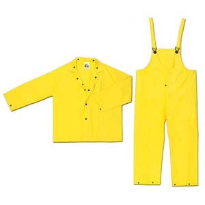MCR Wizard 3-Piece Rain Suit, PVC / Nylon,
