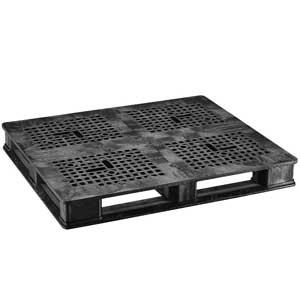 Rackable Pallet, 40 L x 48 W in, Black