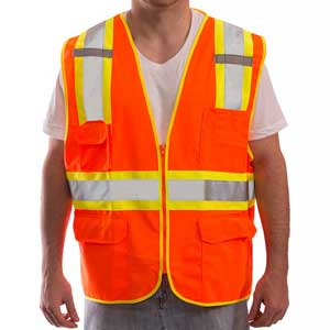 Tingley® Job Sight™ V73859 Fluorescent Surveyor Vest, Class