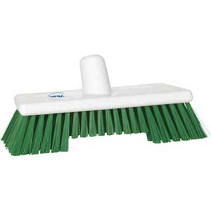 Vikan® Narrow Flared Broom, Deck Scrub Brush, Polyester
