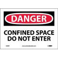 National Marker Company D383P Danger Confined Space Do Not Enter Sign, Vinyl