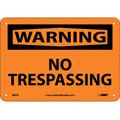 Warning No Trespassing Sign, Rigid Plastic