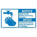 National Marker Company NBA8P Notice Wash Hands Before