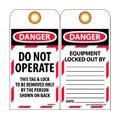 NMC™ LOTAG10 Lockout Tag, Danger Do Not Operate,