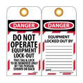 NMC™ LOTAG11 Lockout Tag, Danger Do Not Operate,