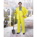 Rain Jacket, PVC on Non-Woven Polyester, Yellow, Storm