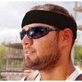 Chill-Its® 6550, Sweatband, Cotton, Black, Universal