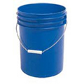 Food Safe Round Plastic 5-Gallon Pail , Blue