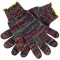 String Knit Gloves, Polyester / Cotton, Gray, Large