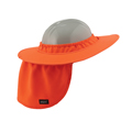 Chill-Its® 6660 Hard Hat Brim with Shade, Hi-Viz