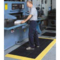 Cushion-Lok™ Anti-Fatigue Mat in Black-Yellow PVC Vinyl, 48 x 30 inch