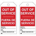 Brady 86524 Lockout Tag, Out of Service, Bilingual,