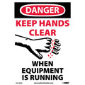 Danger Keep Hands Clear When Equipment Is Running