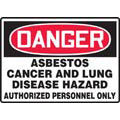 Warning Label, English, DANGER ASBESTOS CANCER AND LUNG