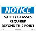 Safety Glasses Required Sign Rigid Plastic with Mounting