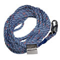 Miller Vertical Lifeline Rope Grab Blue 30' Snap Hook & Loop 300L