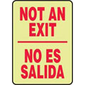 Exit Sign, English<BR>Spanish, NOT AN EXIT/NO ES SALIDA,