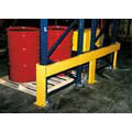Rack Guard, 24 in, Structural Steel, Yellow, 62 to 108 in, Adjustable