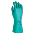 Sol-Vex®, Chemical-Resistant Gloves, Green, Nitrile, 15 mil, Sandpatch,