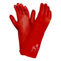 PVA™, Chemical-Resistant Gloves, Red, PVA, 12 in, Gauntlet,