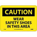 Caution Wear Safety Shoes In This Area Sign,