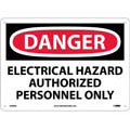 Danger Electrical Hazard Authorized Personnel Only, Aluminum