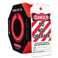 Accuform TAR114 Tags By-The-Roll: Danger Do Not Operate,