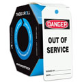 Accuform TAR118 Tags by-the-Roll: Danger Out of Service,
