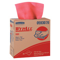Kimberly-Clark® WypAll® 05930 Red Shop Towel Wiper, Hydroknit,