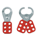 MasterLock 420 Lockout Hasp, Steel, Red, 6