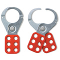 MasterLock 421 Lockout Hasp, Steel, Red, 6