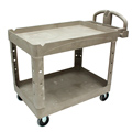 Rubbermaid FG452088BEIG Beige Utility Cart, 2 Shelves, 500lbs