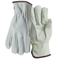 Wells Lamont Y0143 Driver's Gloves, Grain Cowhide Leather