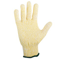 String Knit Glove, Cotton-poly blend, Knit Cuff, Gold/Green,
