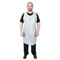 DURAWEAR® 2845 White Poly Universal Disposable Apron, 1.25 mil