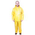 M8 M8527Y-L Large Yellow Rain Jacket with Attached