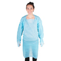 M8 MPG45B Disposable Polyethylene Gown, 45 in, 1.0 mil, Aersol Blood-Resistant, 50 Per Case