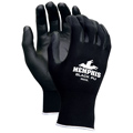 MCR 9669 Black Nylon Shell Polyurethane Gloves