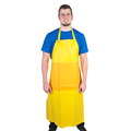 Custom Medical 440540 Yellow Nitrile Apron with Belly