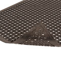 NoTrax® Anti-Fatigue Black Rubber Drain Mat 562 Sanitop® 2' x 3'